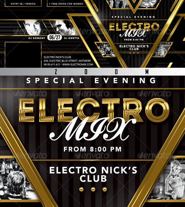 FB Special Evening Electro Mix Party In Club - Facebook Timeline Covers Social Media