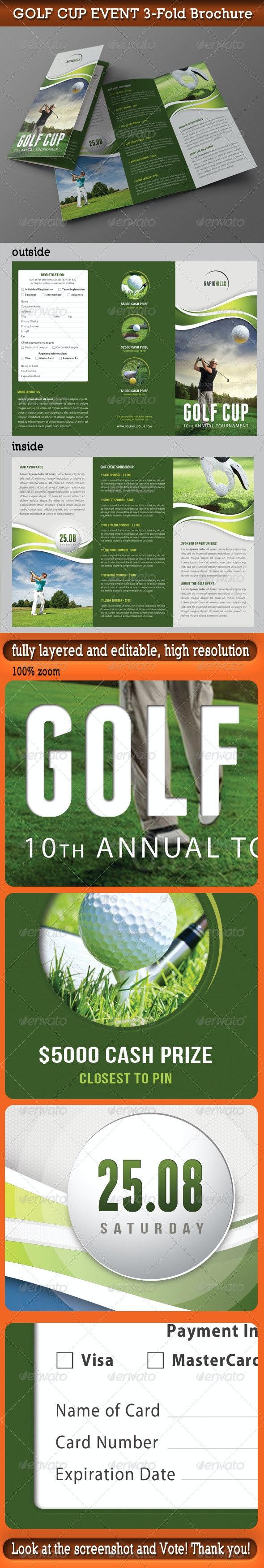 Golf Cup Event 3-Fold Brochure 01 - Corporate Brochures
