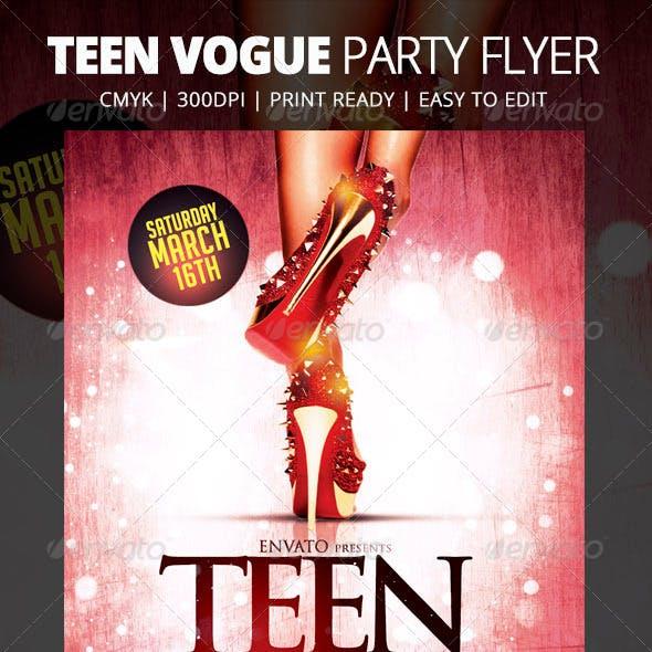 Teen Vogue Flyer Template
