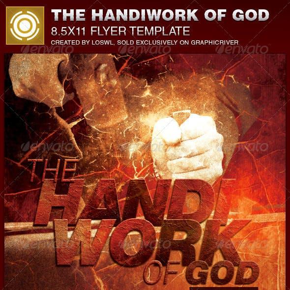 Handiwork of God Church Flyer Template