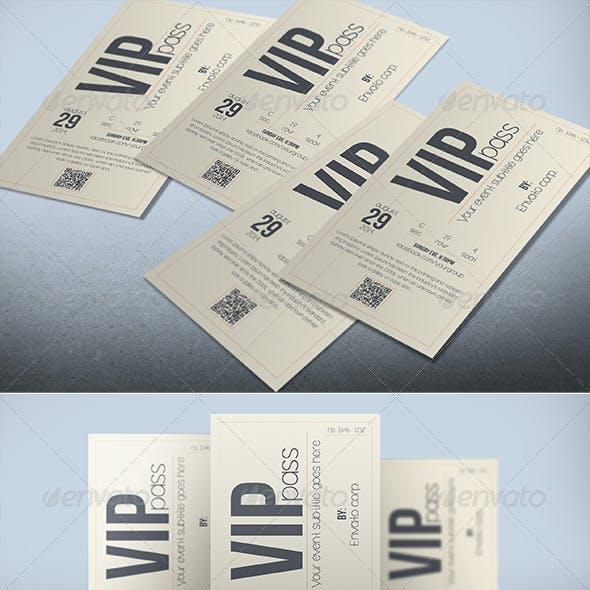 Multipurpose retro VIP PASS