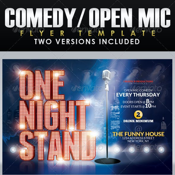 Comedy Night Flyer Template 2