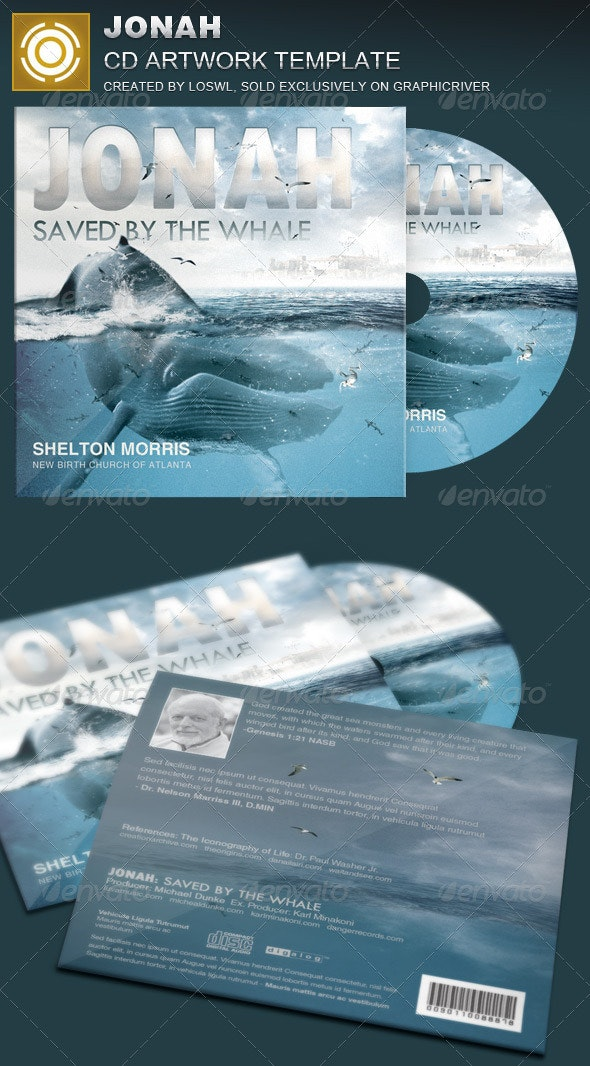 Jonah CD Artwork Template - Print Templates