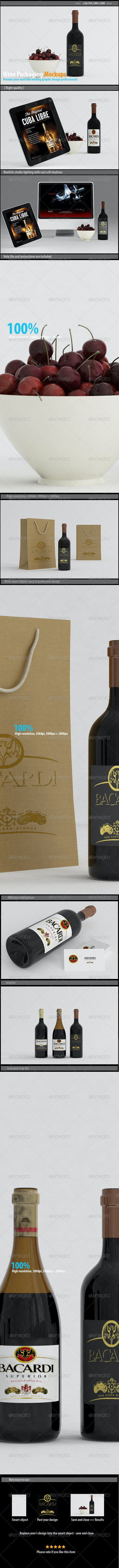Wine Packaging Mockups - Packaging Product Mock-Ups