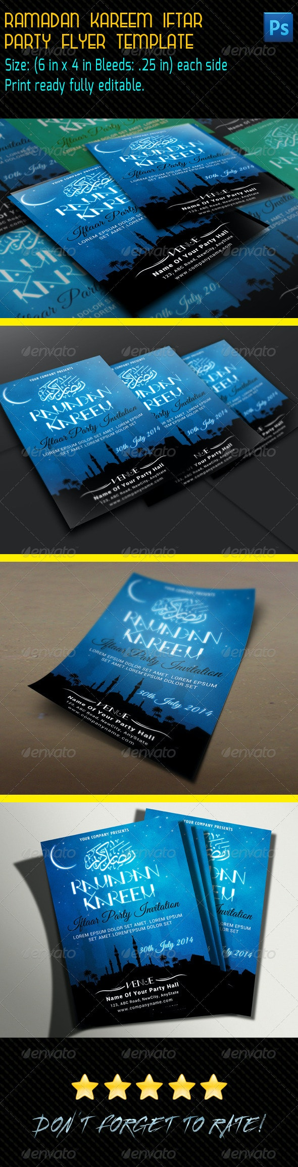 Ramadan Kareem Iftar Party Flyer - Print Templates
