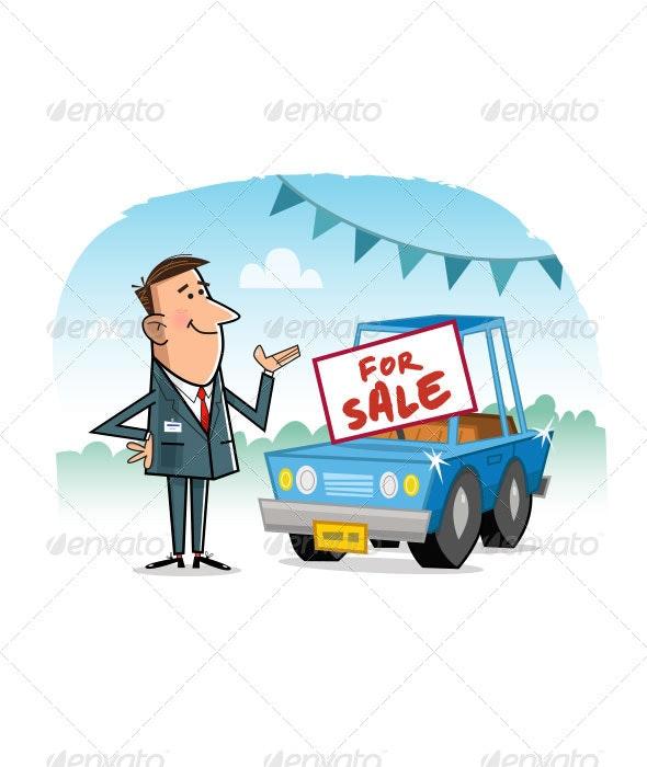 Car Salesman - Characters Vectors