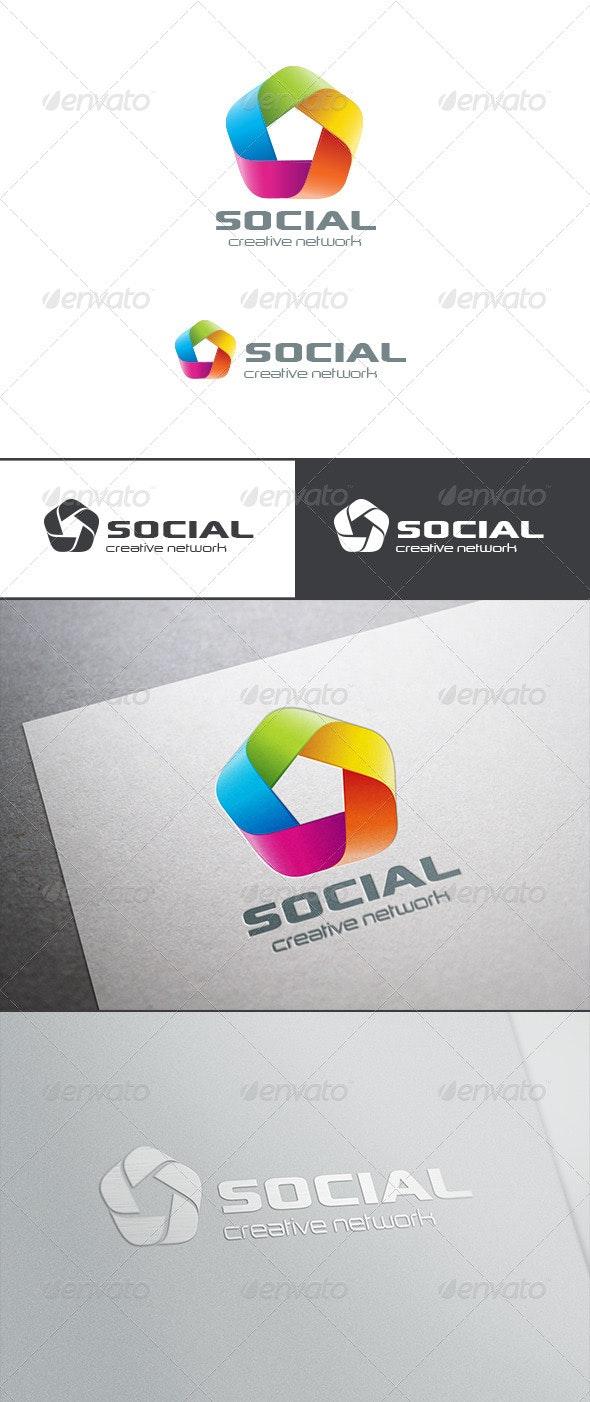 Social Teamwork Logo Abstract - Abstract Logo Templates
