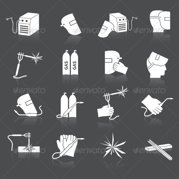 Welder Icons Set - Web Technology