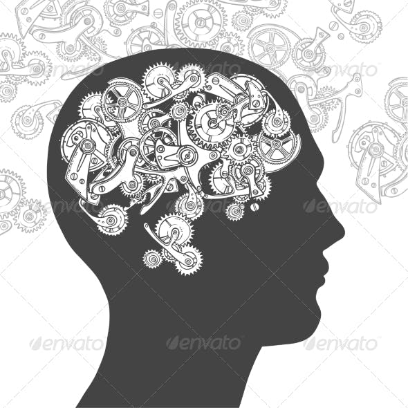 Gear Head Thinking Man