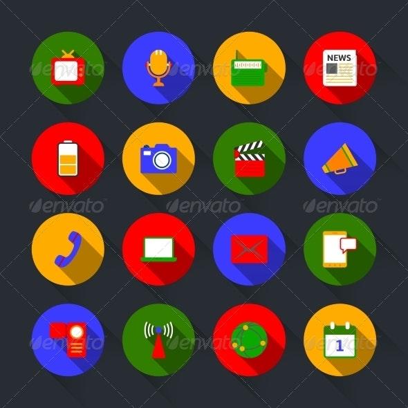 Media Icons Set - Web Elements Vectors