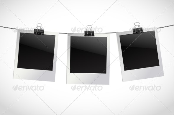 Photo Frames on Rope - Borders Decorative