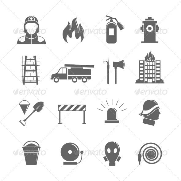 Firefighting Icons Set