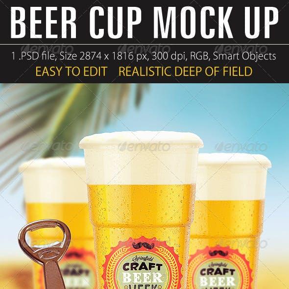 Beer Cup Mock Up