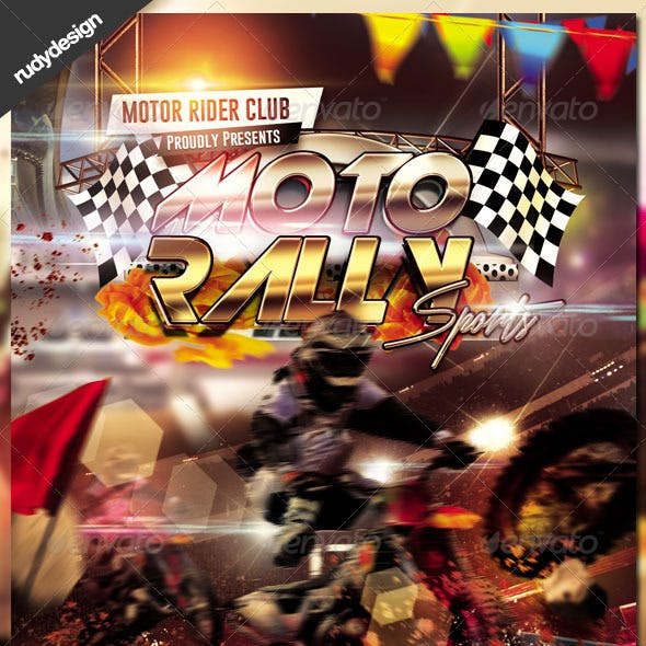 Motocross Rally Flyer Design