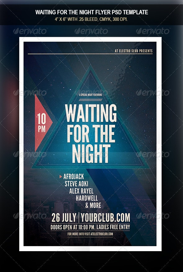 Waiting For The Night Flyer - Flyers Print Templates