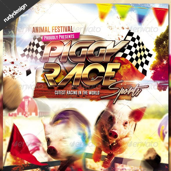 Pig Racing Flyer Design