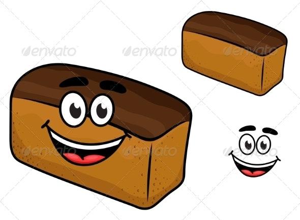 Bread Cartoon - Food Objects