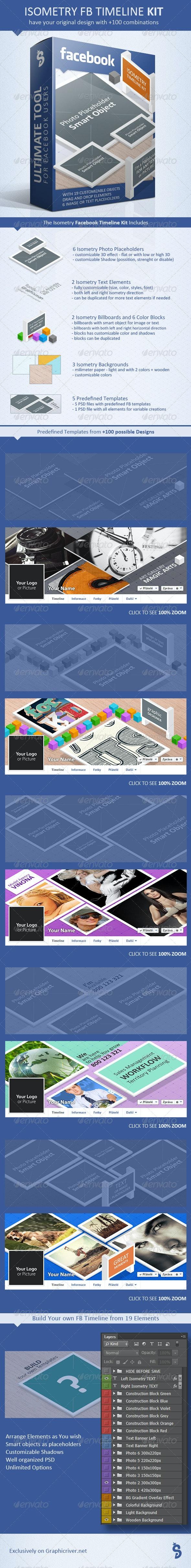 Facebook Timeline Kit - Isometry - Facebook Timeline Covers Social Media
