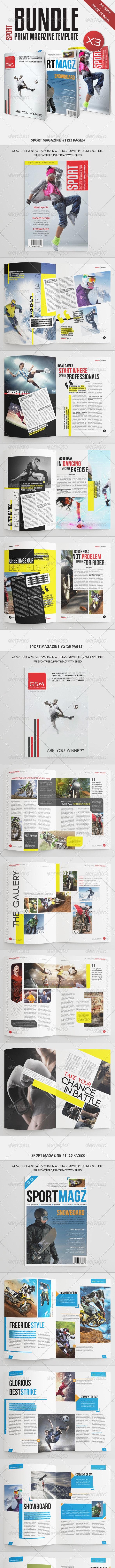Sport Magazine Bundle Vol5 - Magazines Print Templates