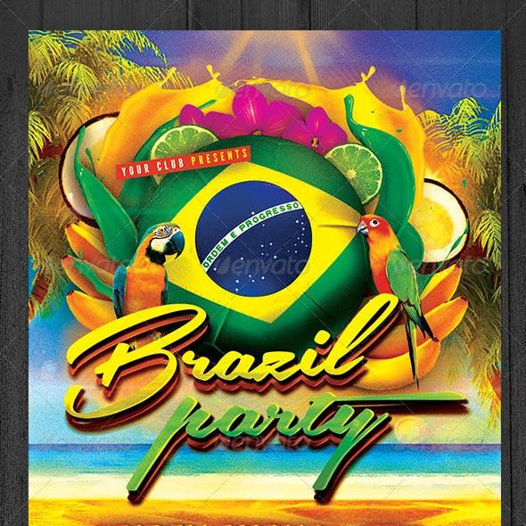Brazil Party Flyer