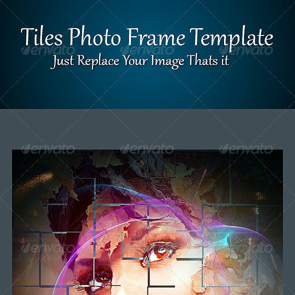 Tiles Photo Frame Template
