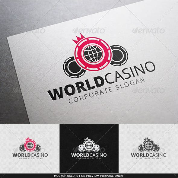 World Casino Logo Template