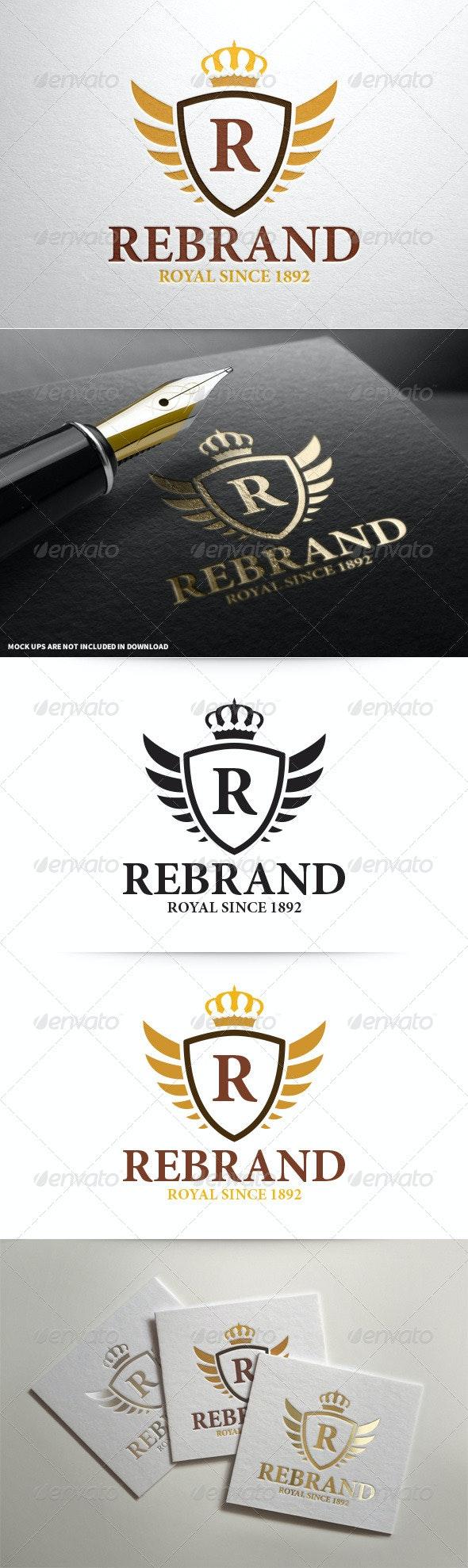 ReBrand - Royal Crest Letter Logo - Crests Logo Templates