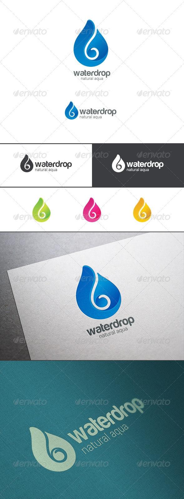 Waterdrop Logo. Mineral Water Droplet - Symbols Logo Templates
