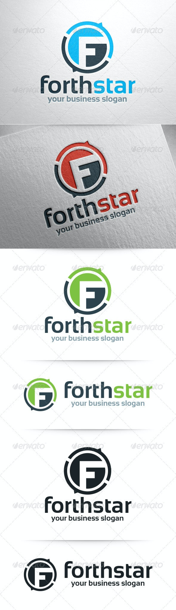 Forthstar - Letter F Logo Template - Letters Logo Templates
