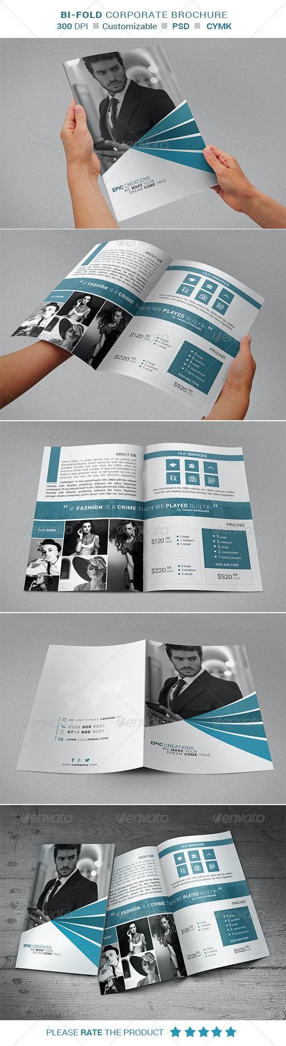 Bi - Fold Brochure Design - Corporate Brochures