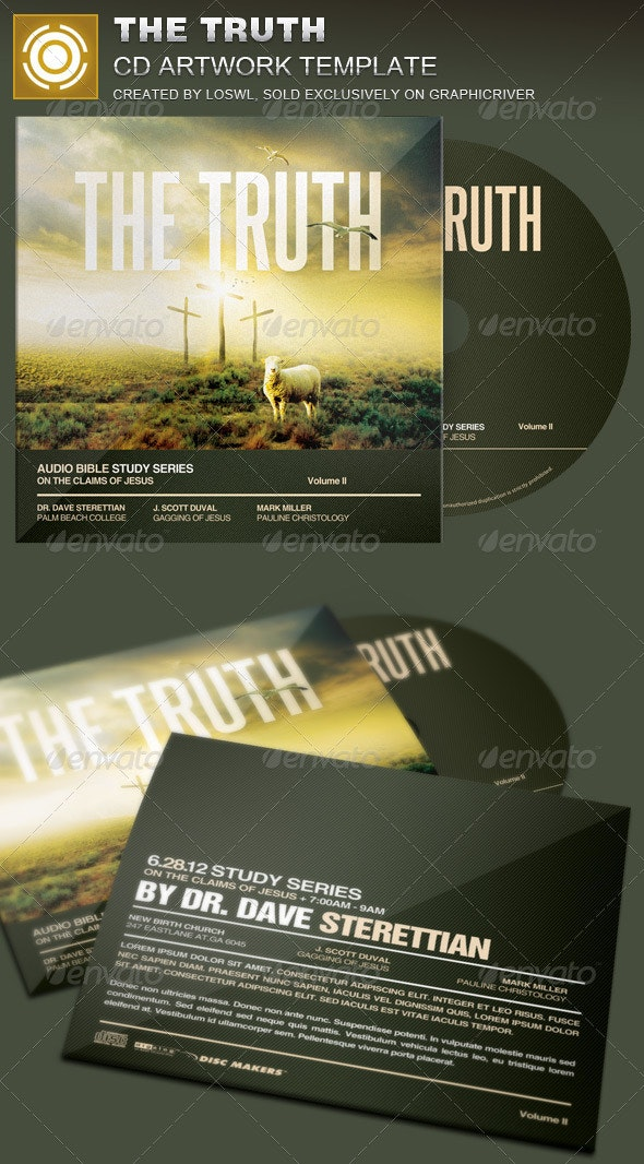 The Truth CD Artwork Template - CD & DVD Artwork Print Templates