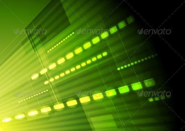 Green Hi-Tech Motion Background - Backgrounds Decorative