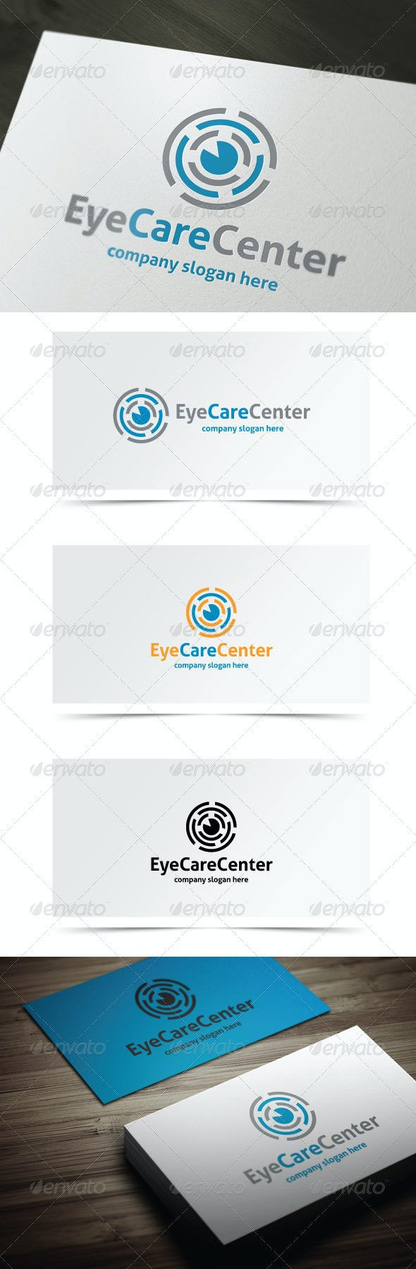 Eye Care Center - Objects Logo Templates