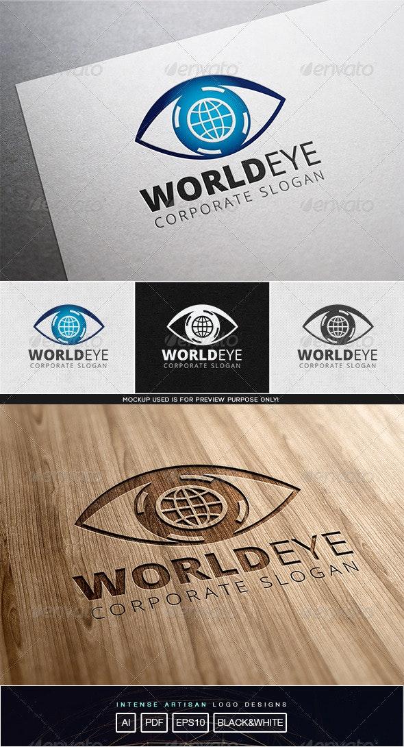 World Eye Logo Template - Humans Logo Templates
