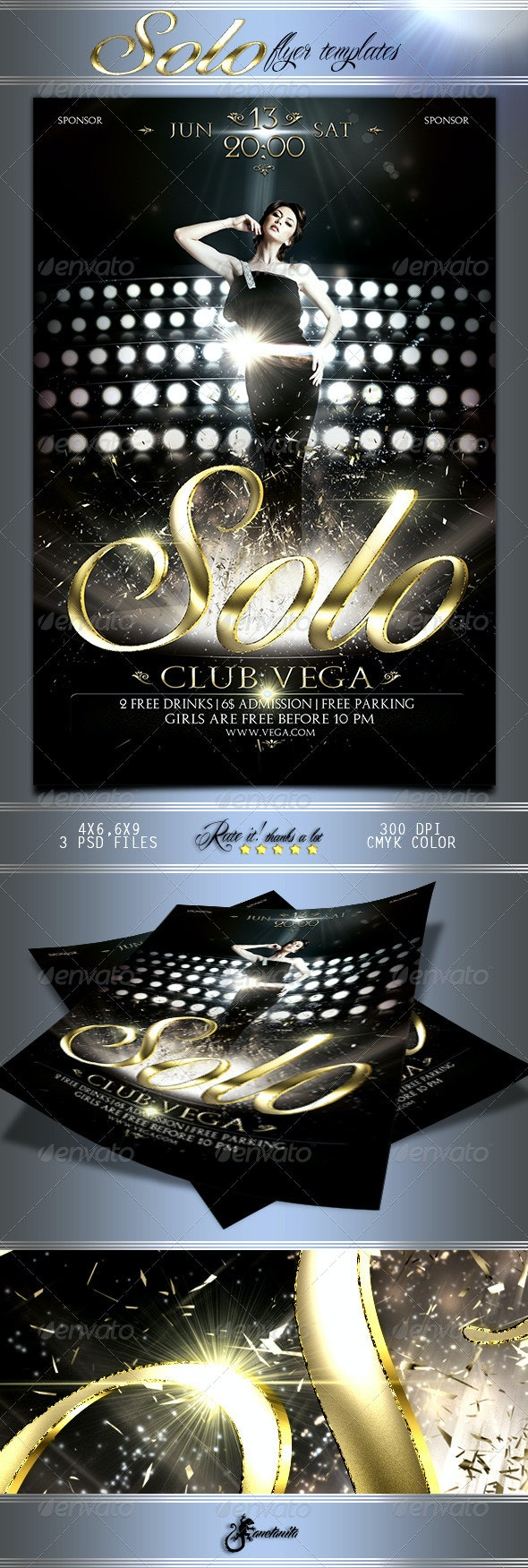 Deluxe Solo Flyer - Clubs & Parties Events