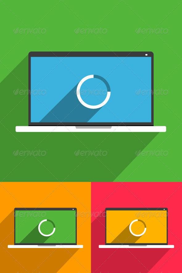 Smart Laptop Mockup - Miscellaneous Characters
