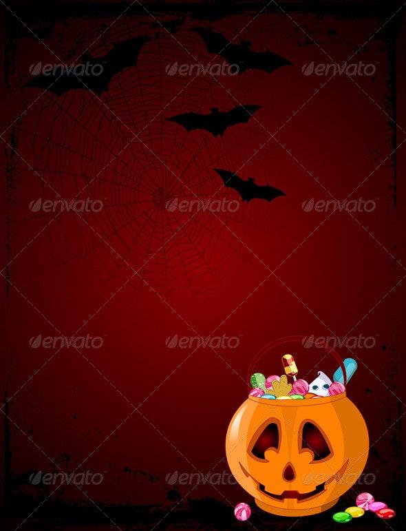 Halloween Treats Background - Halloween Seasons/Holidays