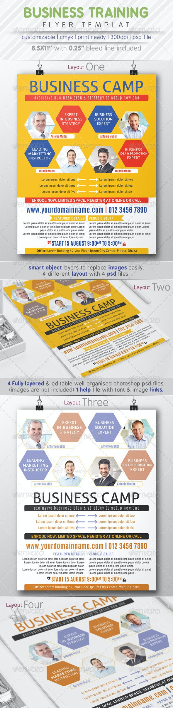 Business Training Flyer Ads - Corporate Flyers