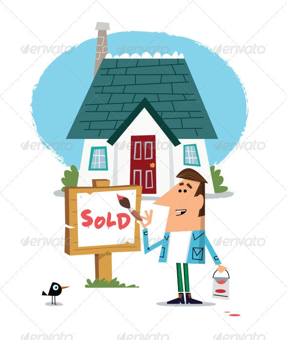 House for Sale - Characters Vectors