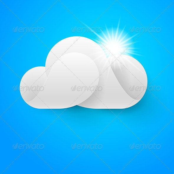 White Cloud on Blue - Animals Characters