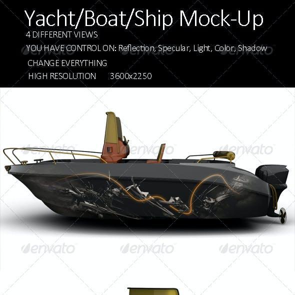 Yacht/Boat/Ship Mock-Up Vol2