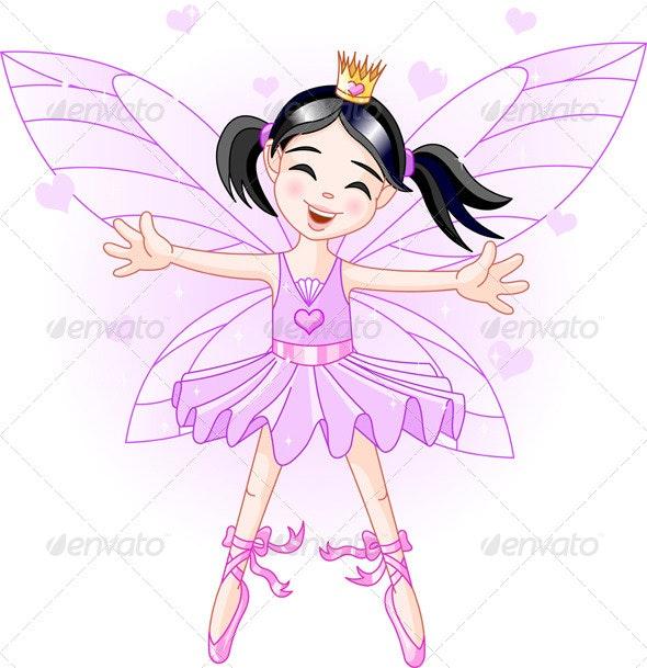 Little Violet Fairy - Characters Vectors