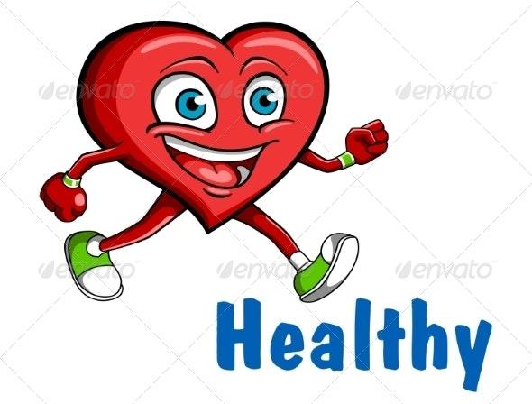 Running Heart - Health/Medicine Conceptual