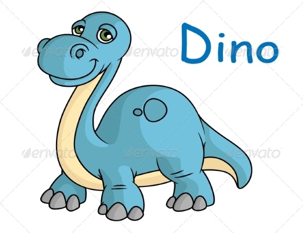 Funny Blue Dinosaur - Monsters Characters