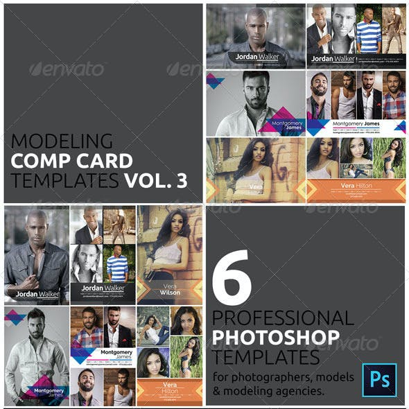 Model Comp Card Template Kit Vol. 3