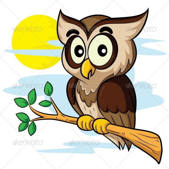 Owl Cartoon - Animals Characters