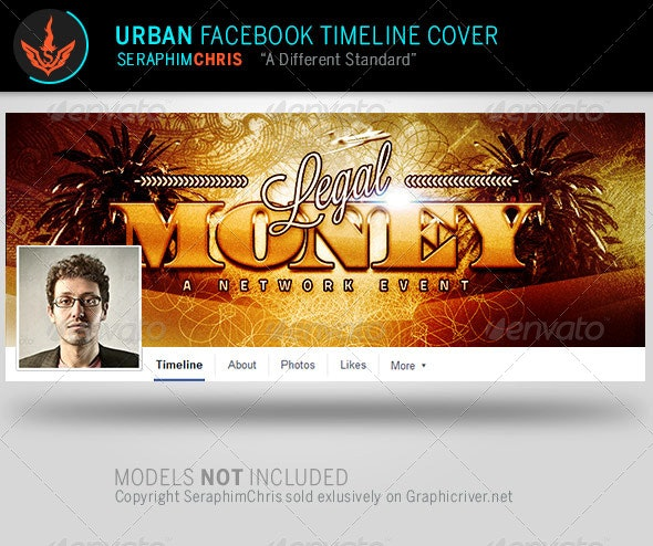 Legal Money: Urban Facebook Timeline Template - Facebook Timeline Covers Social Media