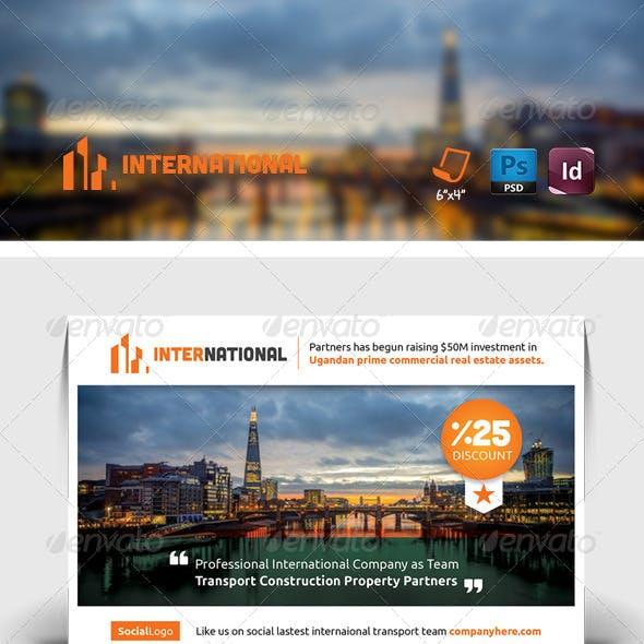 International Postcard Templates