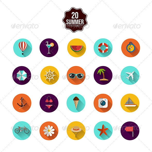This is the Summer Icons - Seasonal Icons