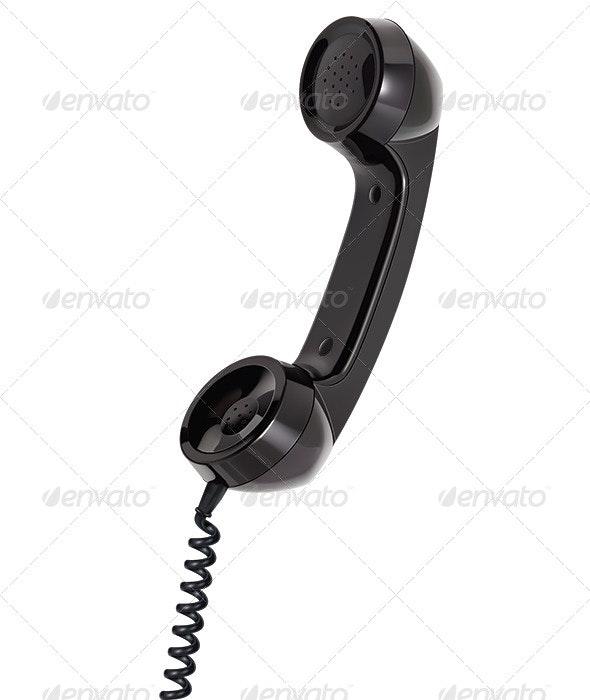 Handset of Telephone - Man-made Objects Objects